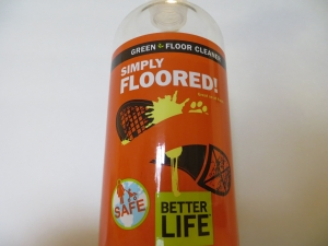 Tidy Tim's uses 'Simply Floored' green floor cleaning product